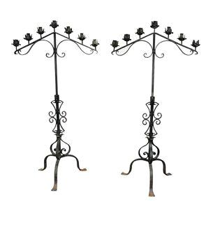 Where to find Candelabra Black 7-Light Adj  pair in Fort Madison