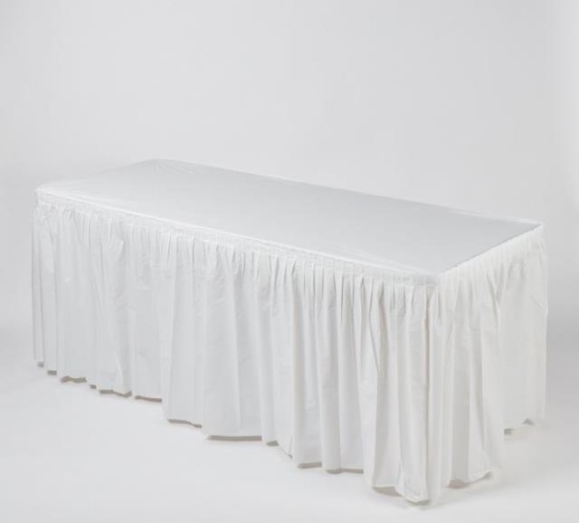 Where to find Kwik Cover Tablecloth Skirt Combo 6 x30 in Fort Madison