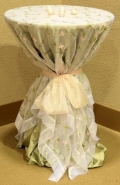 Where to rent Pink Lily   Vine Organza Linens in Fort Madison IA