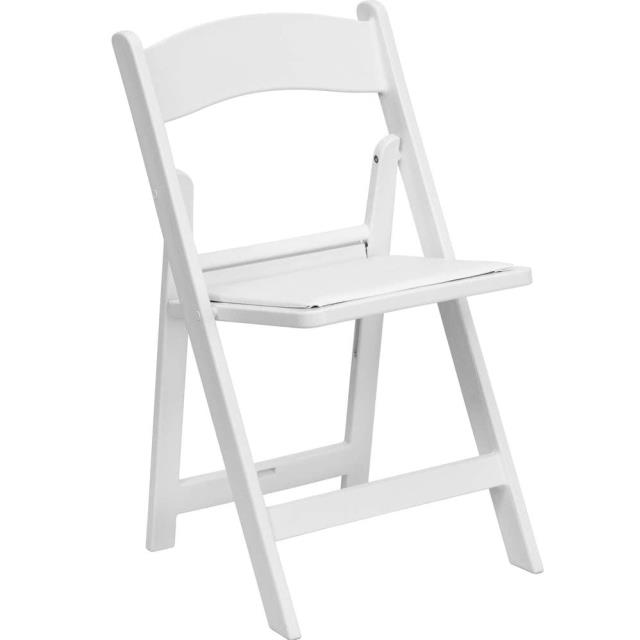 Where to find White Resin Folding Chair in Fort Madison