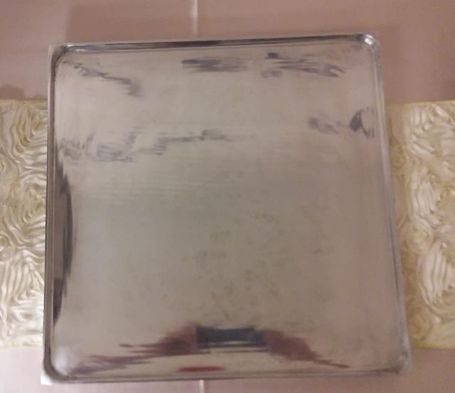Where to find 17.5  Square Metal Serving Tray in Fort Madison